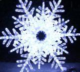 Luz do floco de neve do diodo emissor de luz da luz do motivo do inverno para a decoração da alameda