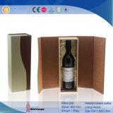 De elegante Doos van de Wijn van de Vorm van het Leer van Pu Plastic (5414)