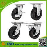 Bremsen-industrielles Gummifußrollen-Rad