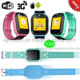 3G/WiFi Wristwatch Smart Kids GPS tracker Watch with Sos Y20