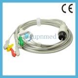 Universal de una pieza 5-Lead ECG cable con cables de conexión