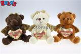 """6.3 de """" Gevulde Teddybeer van de Engel van het Stuk speelgoed van de Gift met het Gouden Hoofdkussen Bos1113 van het Hart"""