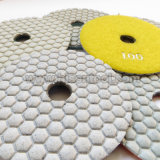 "100mm 4 "" Marble와 Engineer를 위한 White Resin Dry Flexible Polishing Pads"