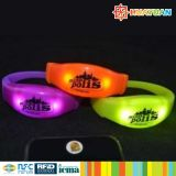 Flash light MIFARE Classic EV1 4K LED Silicona RFID pulsera para el festival de eventos