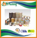 Karton die Gebruikend de Geelachtige Band van de Verpakking van de Kleur BOPP verzegelen