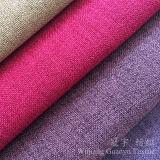 Lino-Como los hilados de polyester 100% caseros de la tela de materia textil para el sofá