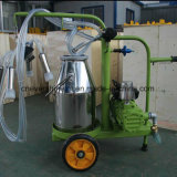 Máquina de ordenha vaca único balde bomba de vácuo Ordenhador Green