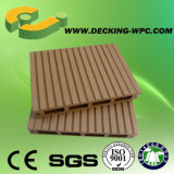 Suelo compuesto barato impermeable del Decking de la depresión WPC de la buena calidad