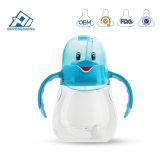 Speisewasser füllt die Kinder ab, die Cup-Baby-Cup-breite Stutzen-Doppelt-Einspritzung-Karton-Baby-Flasche mit FDA ausbilden