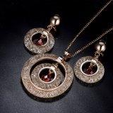 Conjunto plateado oro artificial de moda de la joyería de las señoras del traje de los pendientes de los Nereides de Italia Les