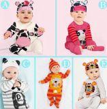 子供のロンパースの衣服の2016の長い袖の動物の赤ん坊のBodysuits