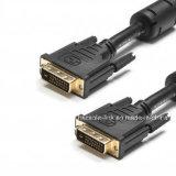 DVI 케이블 (24+1) Dule 링크, 금은 도금했다