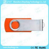 Van het festival van de Gift de Oranje Plastic 8GB USB Schijf van de Wartel met het Embleem van de Douane (ZYF1817)