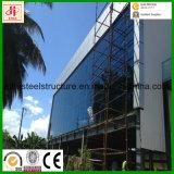Edificio de oficinas Pre-Dirigido construcción de la estructura de acero con la pared de cristal y el Godown
