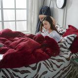 高品質の極度の柔らかさセット4部分のフランネルの羊毛の寝具