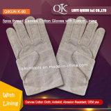 K-90 5PCS потоков Canvas рабочей безопасности хлопок перчатки с хлопка