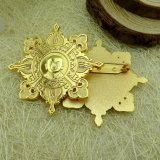 Jiaboの顧客用金属の星の形の金属の折りえりPin