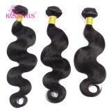 Trama do cabelo do Virgin do cabelo de Remy da classe da extensão 7A do cabelo humano