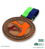 Médaille en alliage de zinc/médailles Shaped faites sur commande
