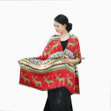 女性のための方法Pashminaのシカの冬の長いスカーフ