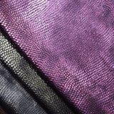 Foiled In reliëf gemaakte Stof van de Polyester van het Leer van Faux Pu voor de Zak van de Schoen