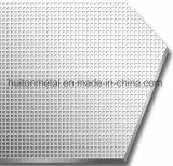 Plaque de pression d'acier inoxydable de modèle de tissu pour la feuille de HPL