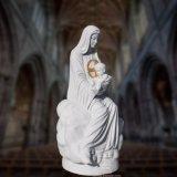 Scultura religiosa della statua, statua di marmo T-6818 della st Mary