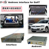 Interfaccia di percorso Android di GPS dell'automobile video per golf 7, Touran, Passat, variante di VW, percorso di tocco di aggiornamento (MIB2), WiFi, BT, Mirrorlink, HD 1080P, programma di Google