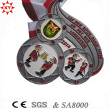 Painting Colors를 가진 주문 Zinc Alloy Material Gold Medal