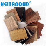 Texture de bois Neitabond 3mm du panneau de revêtement mural ACP pour la décoration