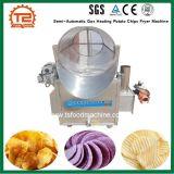 certificado CE Semi-Automático Batatas Fritas de aquecimento a gás fritadeira a máquina