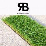 prato inglese artificiale sintetico dell'erba del pavimento di 20-35mm del grado della decorazione Anti-UV di paesaggio per il giardino e la casa