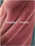 高品質100%年ポリエステル卸し売り擬似ウサギの毛皮ファブリック、長い山のコート、毛布、ジャケットのための固体のどの毛皮の