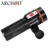 Lumière visuelle 100m imperméable à l'eau sous-marine de 2600 lumens de scaphandre avec la torche d'orientation de 600 lumens DEL