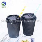 Cuvette chaude de boissons de Papier d'emballage d'ondulation de papier de mur de thé de cappuccino remplaçable triple en gros de café