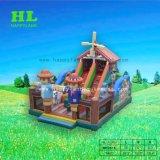 Надувные Scarecrow тема красочные замок Combo Bouncer с