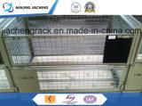Contenitore pieghevole di immagazzinamento in la cassa della rete metallica del magazzino