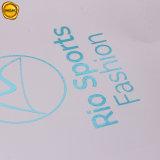 Sinicline papel blanco normal personalizada Bolsa de compras con la cadena de cinta
