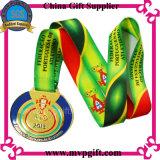 Medaglia personalizzata 3D con il nastro della stampa per la medaglia di maratona