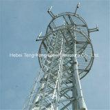 На поддержку угловое телекоммуникационных стали решетчатые башни