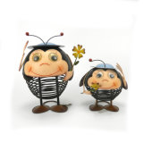 Home Decor Cute métal Ornements Art Artisanat d'Abeille avec chapeau