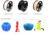 Filament 3D 1.75mm 3.0mm de haute résistance de filament d'imprimante de la fibre 3D de carbone