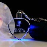 Причудливый дешевое кольцо СИД кристаллический Keychain ключевое