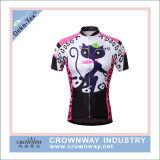 Commerce de gros Womens Custom Cool Vêtements de Cyclisme/vêtements de sport/Tops/Shirt impression en sublimation Jersey le cyclisme professionnel de l'usure