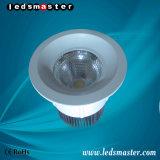 Ángulo de haz múltiple de la venta caliente de la iluminación plástica del plano de Downlight ligero plano 15-100W LED Downlight