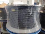 Embalaje de grafito flexible con fibra de carbono de las esquinas