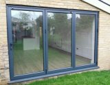 Topbrightの低いEガラスとのShopfrontのための強い外部の折れ戸