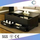 Muebles sencillos muebles de oficina Escritorio Té Negro mesa de café para uso doméstico (CAS-CF1803)