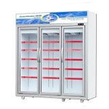 3개의 문 디지털 성미 관제사를 가진 강직한 전시 냉장고