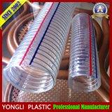 Câble en acier flexible en spirale, PU Durit de dépression, spirale avec le flexible transparent en PVC
